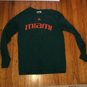 Adidas University of Miami Long Sleeve Top